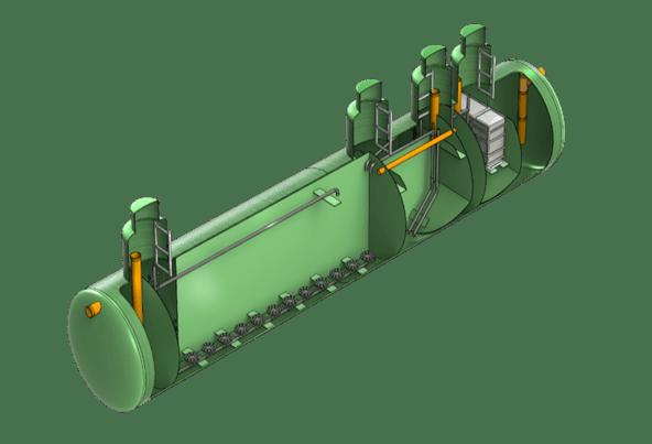 Автономная канализация коттеджного поселка Qubo-Bio из стеклопластика, полипропилена