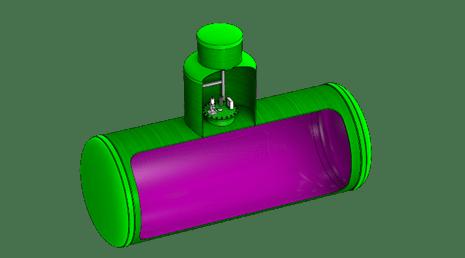 Емкости для хранения кислот и щелочей из стеклопластика, полипропилена