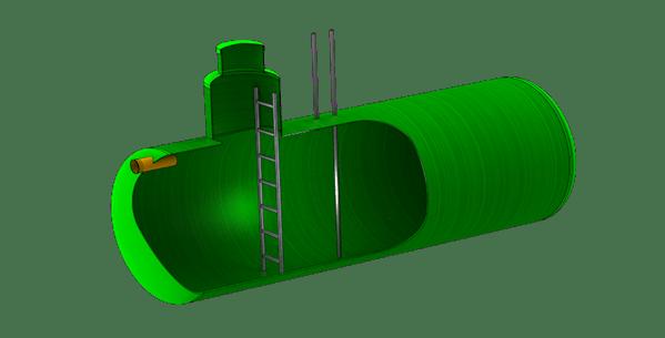 Пожарный резервуар (противопожарный резервуар) из стеклопластика, полипропилена - звоните +7 (499) 397 77 80